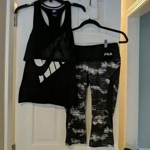 Active wear Set - top M pants xs super stretch